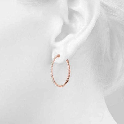 Frosted Globe Hoop Earring- 0.50 Ctttw | The Carat Lab