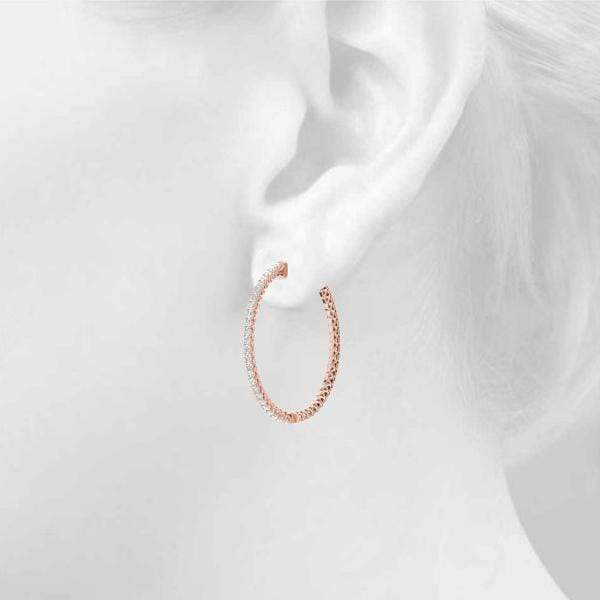 Frosted Globe Hoop Earring- 2 Cttw | The Carat Lab