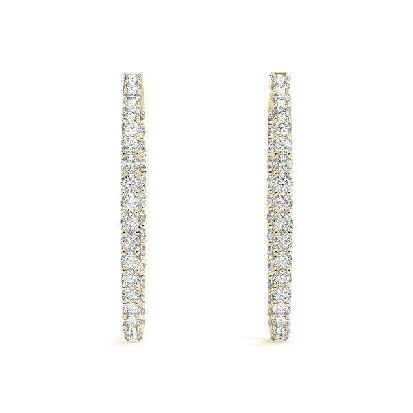 Graceful Diamond Hoop Earrings- 3 Cttw | The Carat Lab