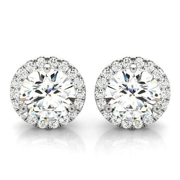 Halo Diamond Stud Earrings- 1/2 Cttw