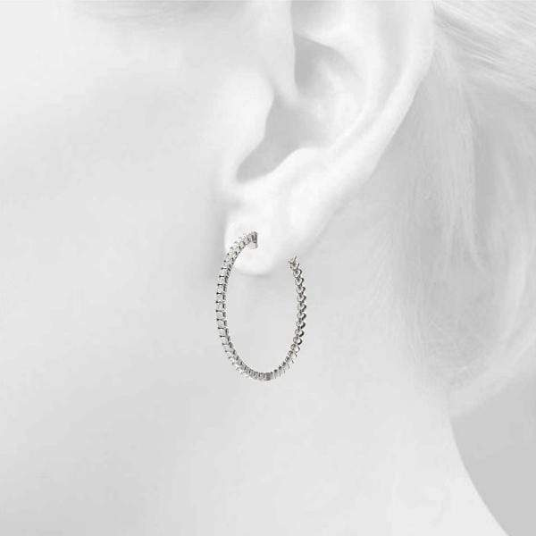 Iced Hoop Earring- 1 Cttw | The Carat Lab