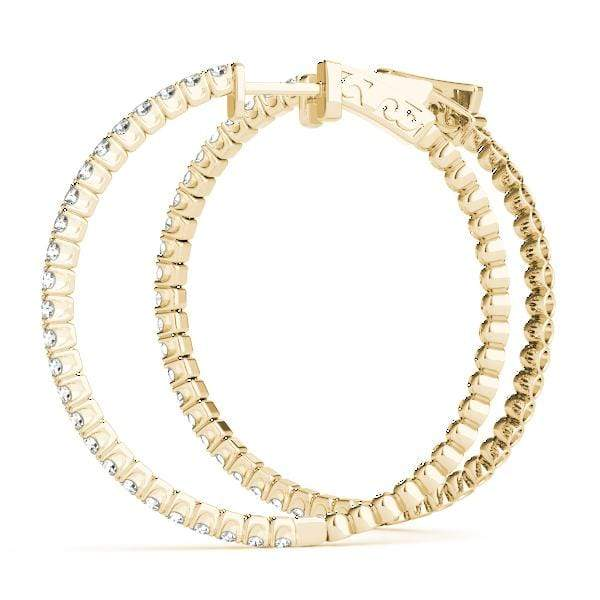 Iced Hoop Earring- 1.5 Cttw | The Carat Lab