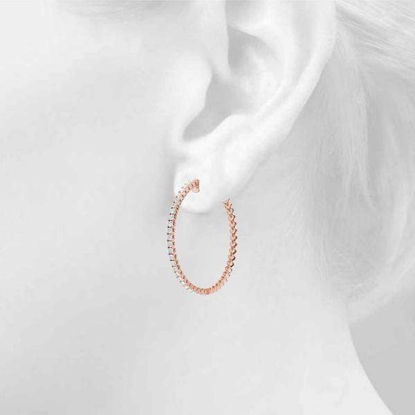 Iced Hoop Earring- 1.2 Cttw | The Carat Lab