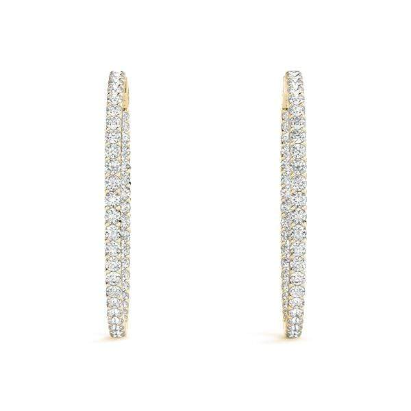 Innovative Diamond Hoop Earrings- 2 Cttw | The Carat Lab