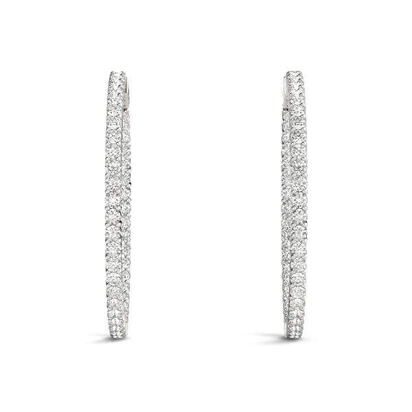 Innovative Diamond Hoop Earrings- 1.95 Cttw | The Carat Lab