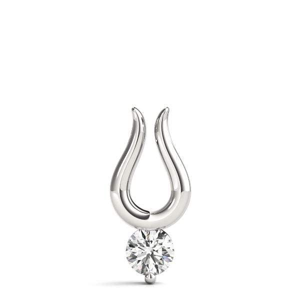 Lucky Diamond Solitare Pendant- 0.50 Cttw | The Carat Lab