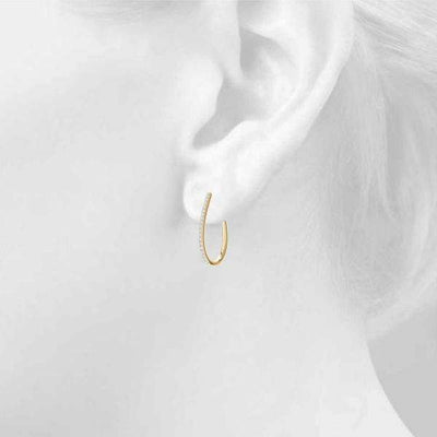 Oval Diamond Hoop Earrings- 1 Cttw | The Carat Lab