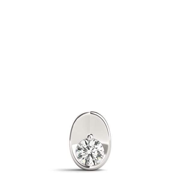 Oval Solitare Diamond Pendant- 0.50 Cttw | The Carat Lab