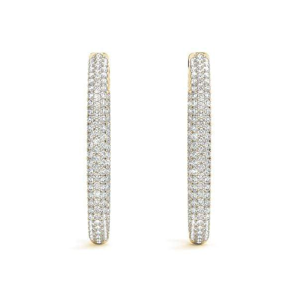 Paradigm Diamond Hoop Earrings- 3.12 Cttw | The Carat Lab