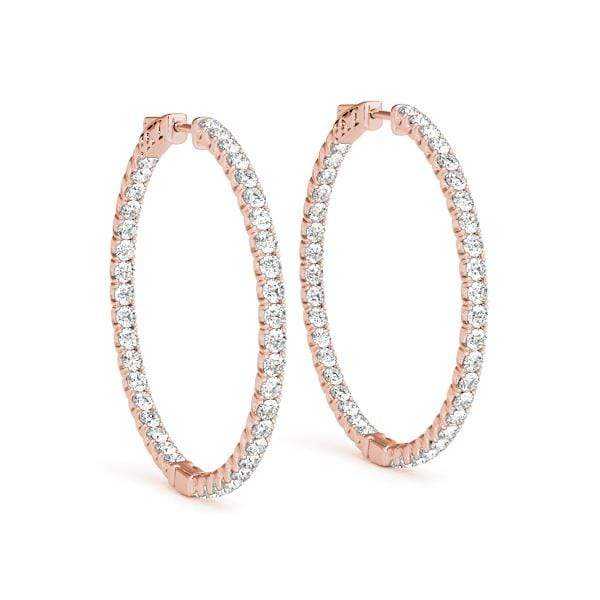 Precious Diamond Hoop Earring- 2.70 Cttw | The Carat Lab