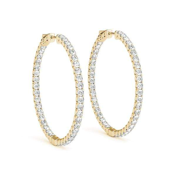 Precious Diamond Hoop Earrings- 3.3 Cttw | The Carat Lab