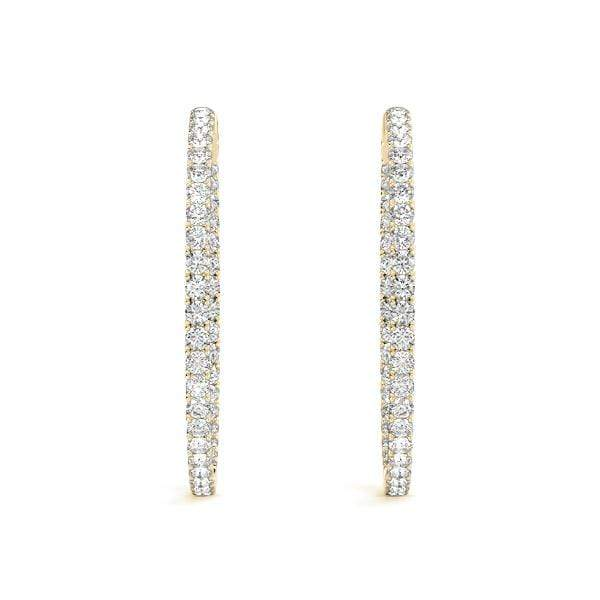 Precious Diamond Hoop Earrings- 2 Cttw | The Carat Lab