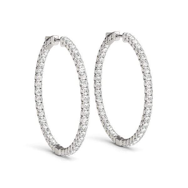 Precious Diamond Hoop Earrings- 1.55 Cttw | The Carat Lab