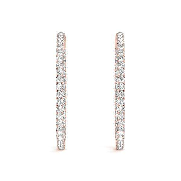 Precious Diamond Hoop Earrings - 3 Cttw | The Carat Lab