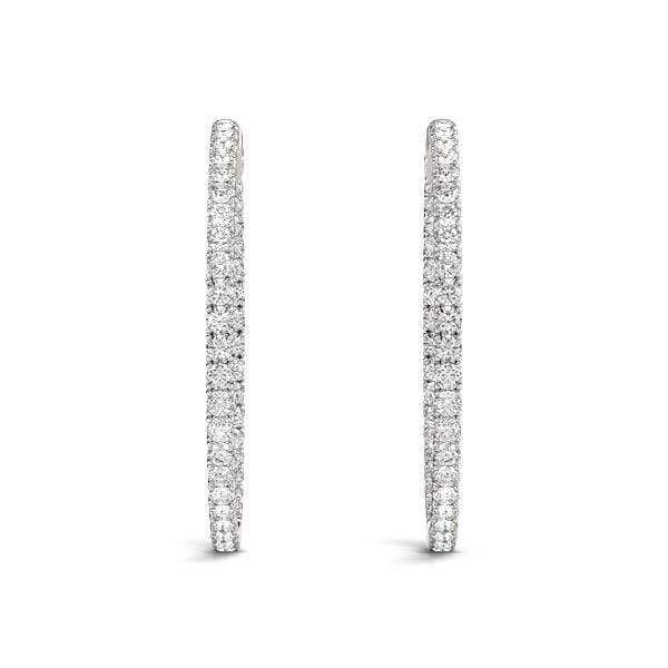Precious Diamond Hoop Earrings- 1.30 Cttw | The Carat Lab