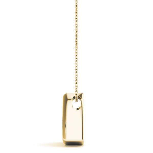 Pyramid Solitare Diamond Pendant - 0.50 Cttw | The Carat Lab