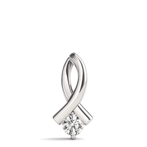 Ribbon Diamond Solitare Pendant- 3/8 Cttw