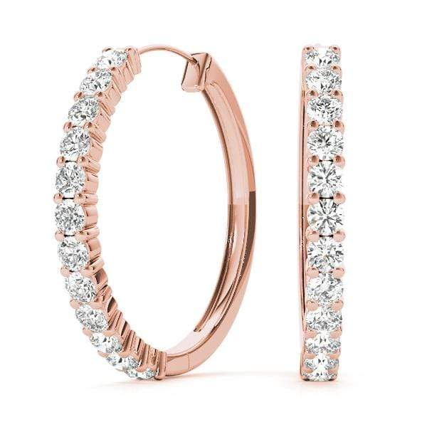 Circle Diamond Hoop Earrings- 1/4 Cttw