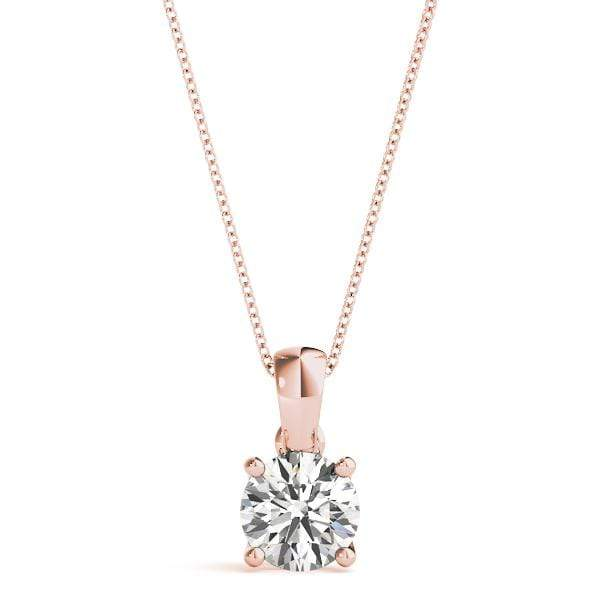 Classic Round Solitare Diamond Pendant- 0.50 Cttw | The Carat Lab