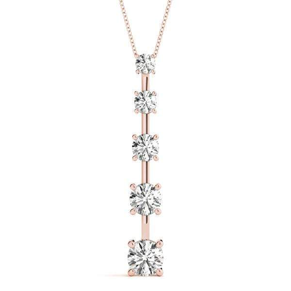 Linear Journey Diamond Pendant- 1 Cttw | The Carat Lab