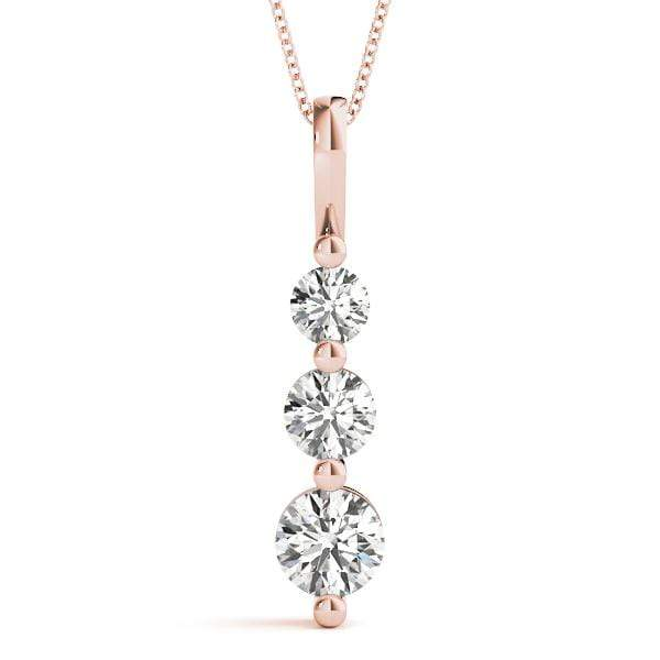Solitary 3 Diamond Pendant- 0.75 Cttw | The Carat Lab