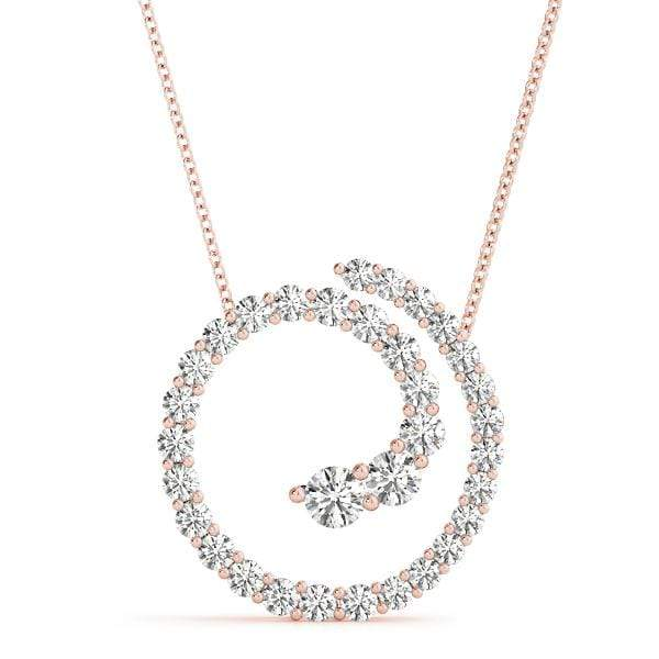 Sparkly Swirl Diamond Pendant- 0.35 Cttw | The Carat Lab