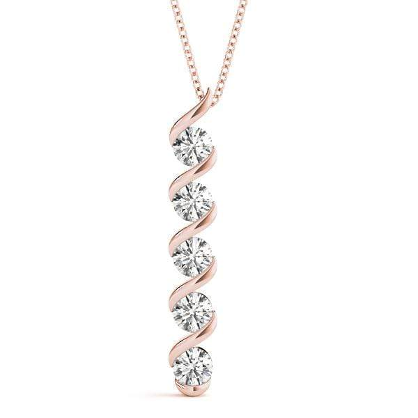 Swaddle Diamond Pendant- 1 Cttw | The Carat Lab