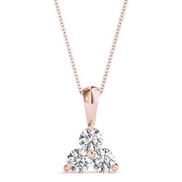 Triangle 3 Diamond Pendant- 0.50 Cttw | The Carat Lab