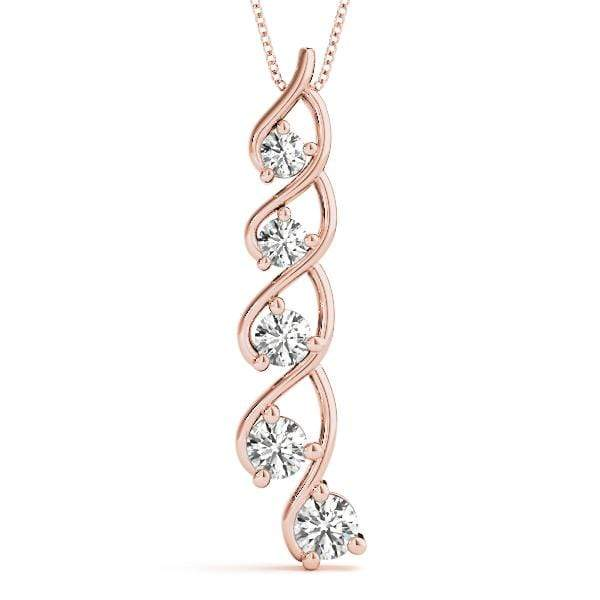 Wishful Journey Diamond Pendant- 0.15 Cttw | The Carat Lab