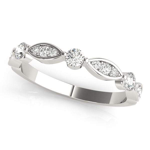 Round and Eyelet Stackable Diamond Ring | The Carat Lab