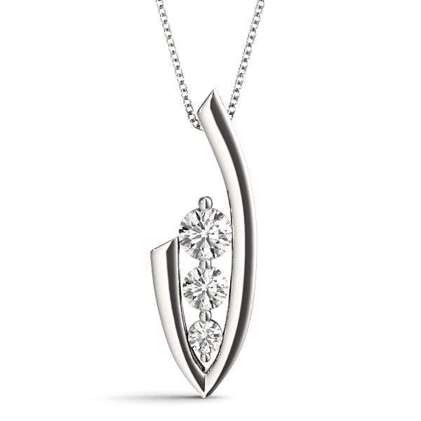 Check 3 Diamond Pendant- 0.50 Cttw | The Carat Lab