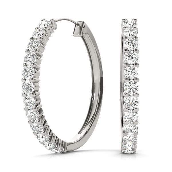 Cyber Monday Circle Diamond Hoop Earrings- 1/8 Cttw | The Carat Lab