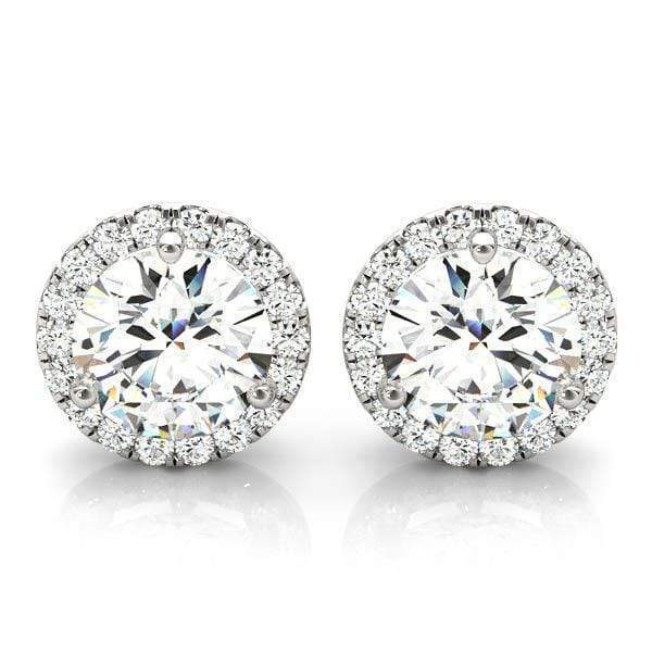 Cyber Monday Halo Diamond Stud Earrings- 1/5 Cttw | The Carat Lab