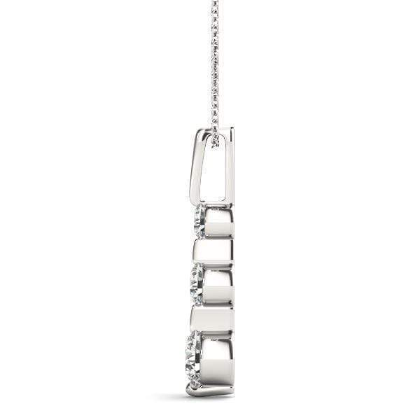 Cyber Monday Solitary 3 Diamond Pendant- 1/4 Cttw | The Carat Lab