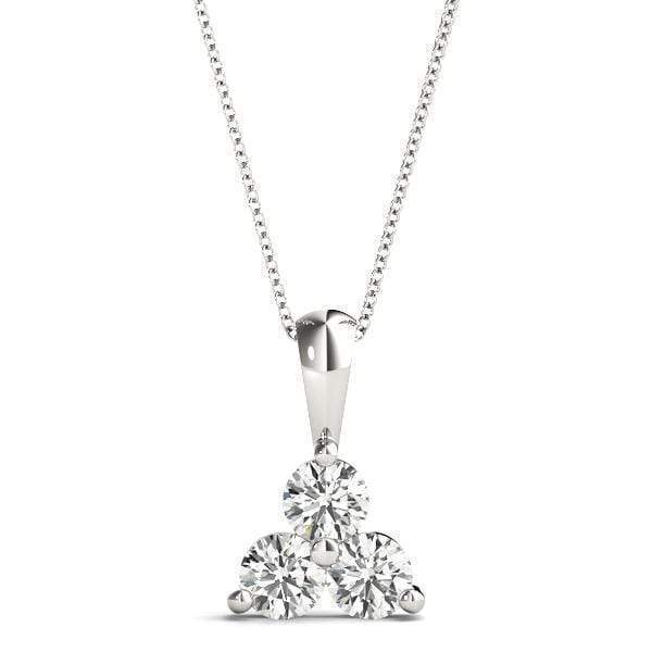 Cyber Monday Triangle 3 Diamond Pendant- 1/4 Cttw | The Carat Lab