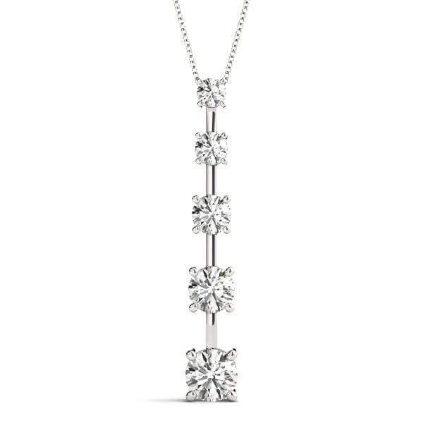 Linear Journey Diamond Pendant- 0.75 Cttw | The Carat Lab