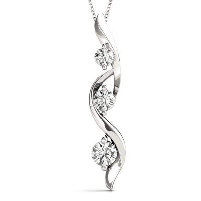 Sea Tangle 3 Diamond Pendant- 0.50 Cttw | The Carat Lab