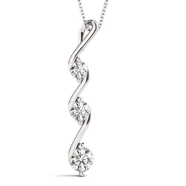 Swivel 3 Diamond Pendant- 0.50 Cttw | The Carat Lab