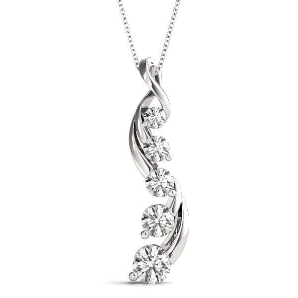 Vitality Journey Diamond Pendant- 0.25 Cttw | The Carat Lab