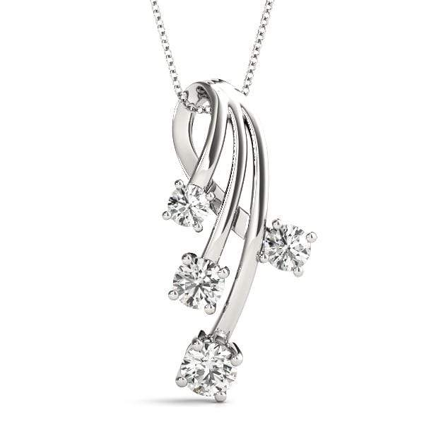 Waterfall Diamond Pendant- 0.75 Cttw | The Carat Lab