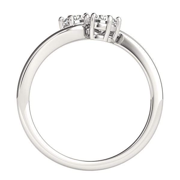 Smooth Twirl Dual Diamond Ring- 0.25 Cttw | The Carat Lab
