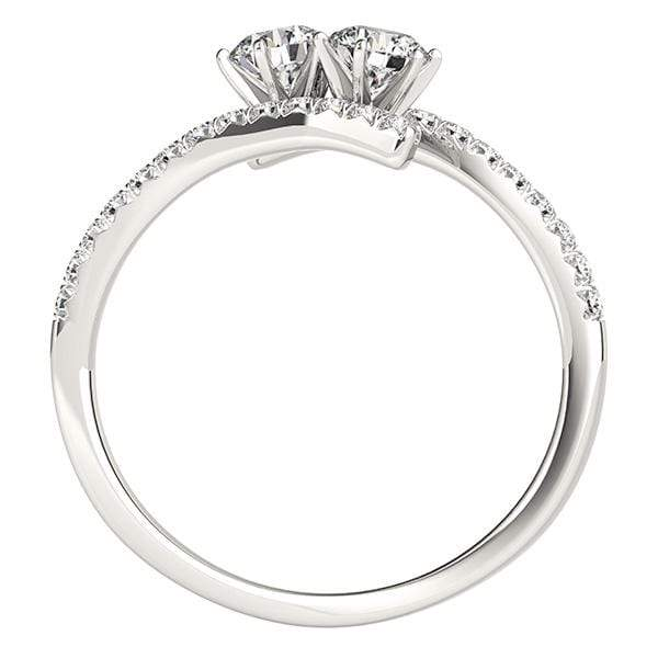 Swirl Dual Diamond Ring- 1/4 Cttw