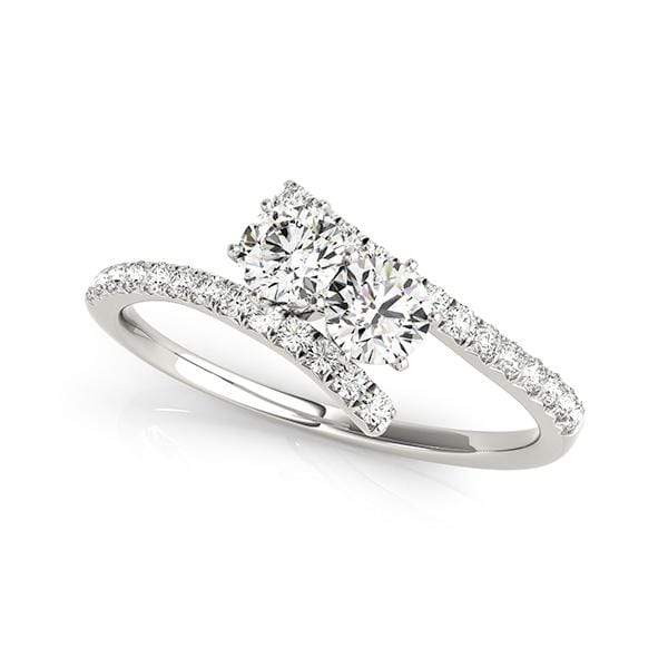 Swirl Dual Diamond Ring- 1 Cttw | The Carat Lab
