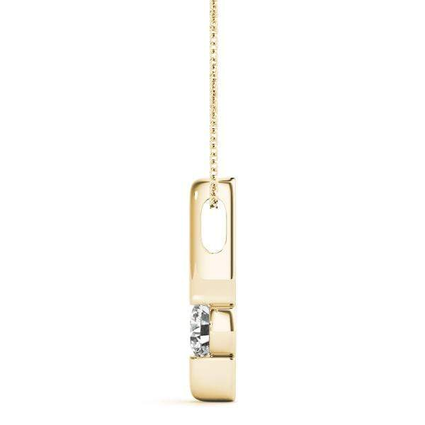 Time Capsule  Solitaire Diamond Pendant- 0.25 Cttw | The Carat Lab
