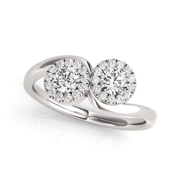 Trendy Dual Diamond Ring- 3/4 Cttw