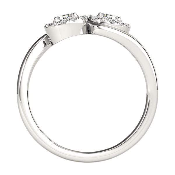 Trendy Dual Diamond Ring- 1 Cttw | The Carat Lab