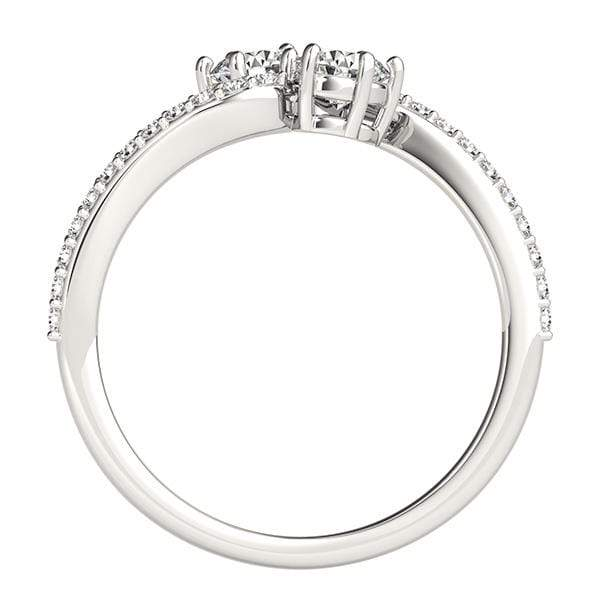 Twirl Dual Diamond Ring- 0.50 Cttw | The Carat Lab