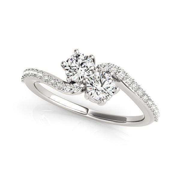 Twirl Dual Diamond Ring- 1 Cttw | The Carat Lab