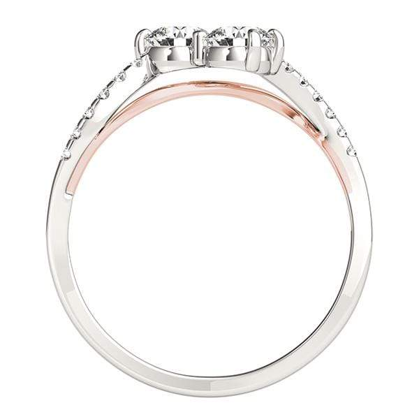 Two Toned Twirl Dual Diamond Ring- 0.85 Cttw | The Carat Lab