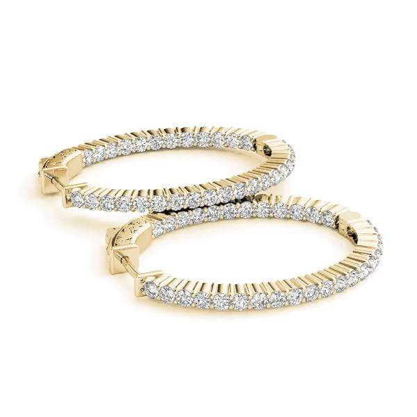 Vogue Diamond Hoop Earrings- 1.90 Cttw | The Carat Lab